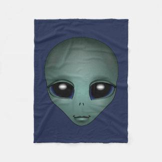 Alien Blanket Cute Alien Grey Art Fleece Blanket