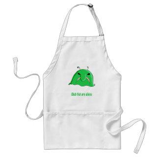 Alien blob adult apron