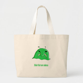 Alien blob jumbo tote bag
