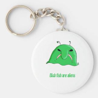 Alien blob keychain