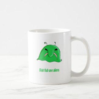 Alien blob classic white coffee mug