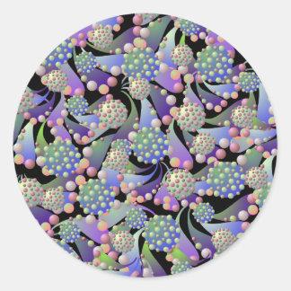 Alien Blossoms and Spores Sticker