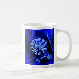 alien blue flower mug