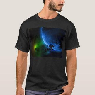 Alien Blue Planets & Asteroids T-Shirt