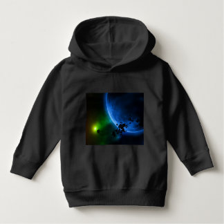 Alien Blue Planets Outer Space Hoodie