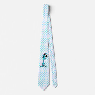 Alien Blue Polka Dot Neck Tie