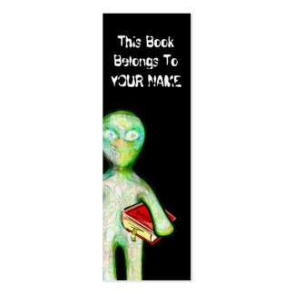 aLiEn BOOKMARK! Double-Sided Mini Business Cards (Pack Of 20)