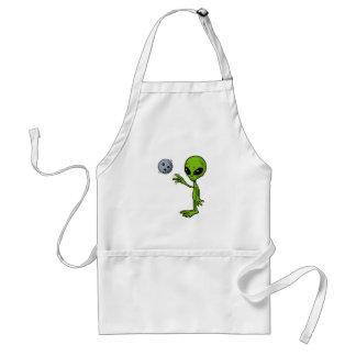 Alien Bowler Adult Apron