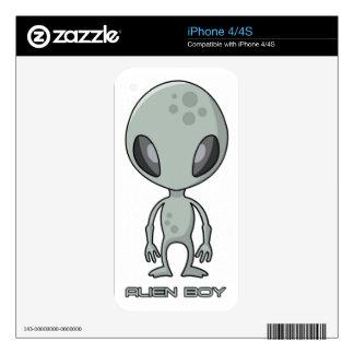 Alien Boy iPhone 4 Skin