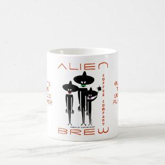 Alien Brew Coffee Company Classic White Coffee Mug