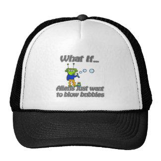 alien bubbles trucker hat