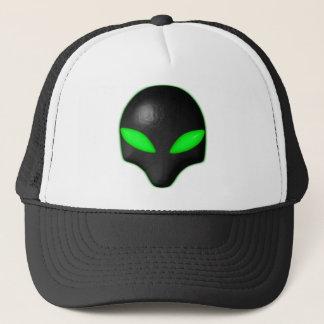 Alien Bug Face Green Eyes Trucker Hat