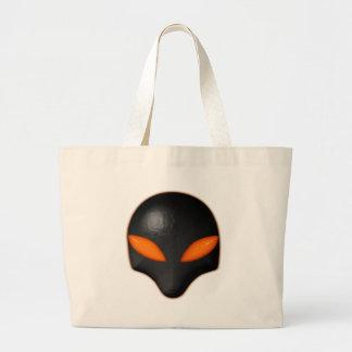 Alien Bug Face Orange Eyes Bags