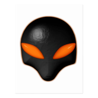 Alien Bug Face Orange Eyes Postcard