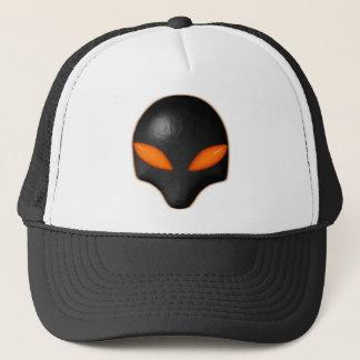 Alien Bug Face Orange Eyes Trucker Hat
