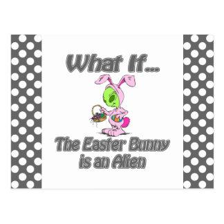 alien bunny postcard