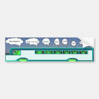 Alien Bus Bumper Sticker