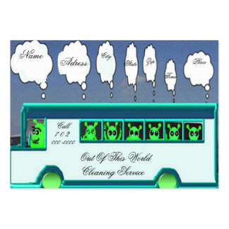 Alien bus business card