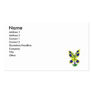 Alien Butterfly Business Card