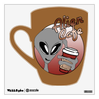 Alien Cafe Wall Decal