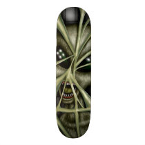 alien, ufo, space, extraterestrial, abduction, paranormal, Skateboard with custom graphic design