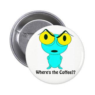 Alien Cartoon Pinback Button
