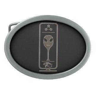 Alien Cartouche Oval Belt Buckle