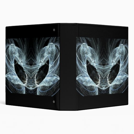 Alien Cat. Mystical Fantasy Art Fractal. 3 Ring Binder