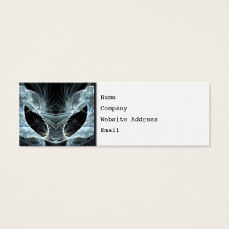 Alien Cat. Mystical Fantasy Art Fractal. Mini Business Card