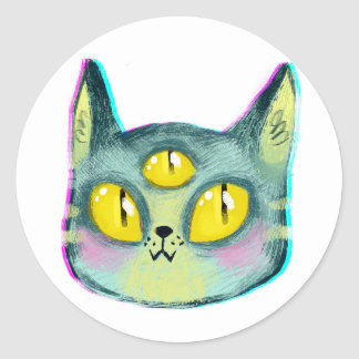 Alien Cat Sticker