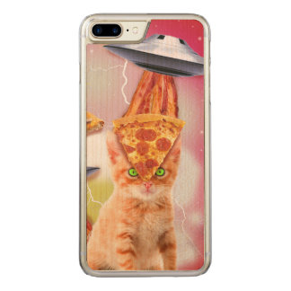 alien cats and the ufos carved iPhone 7 plus case