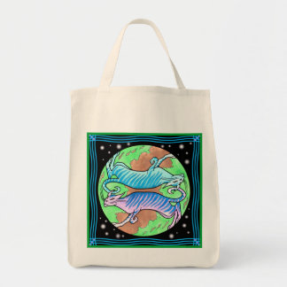Alien Cats Grocery Tote
