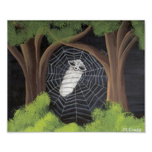 Alien Caught in a Spiders Web Posters