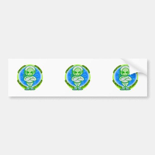 Alien Celebration Bumper Sticker
