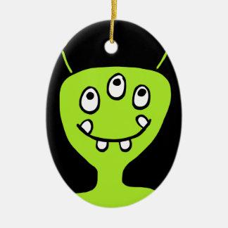 Alien Ceramic Ornament