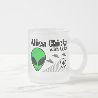 Alien Chicks Frosted Glass Coffee Mug