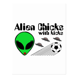 Alien Chicks Postcard