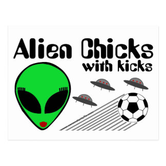 Alien Chicks Postcard