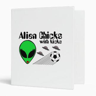 Alien Chicks with Kicks Binder
