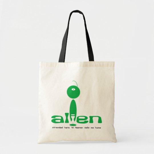 Alien Christian cloth tote bag