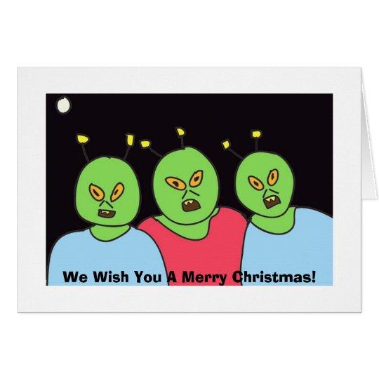 Alien Christmas Greetings Card