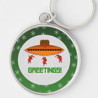 Alien Christmas Keychain