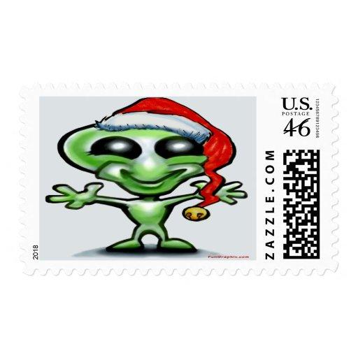 Alien Christmas Postage