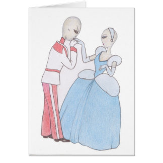 Alien Cinderella and Prince Charming Card