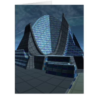 Alien City Gingezel Performing Arts Center Large Greeting Card