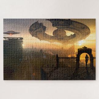 Alien Cityscape Jigsaw Puzzle