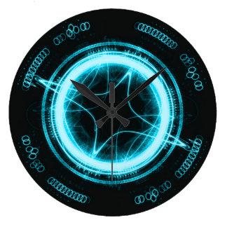 Alien Clock Blue