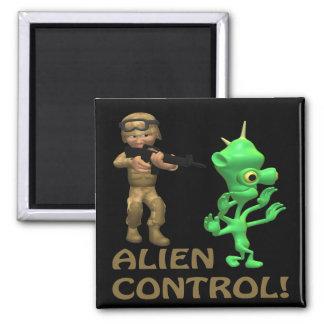 Alien Control 2 Inch Square Magnet