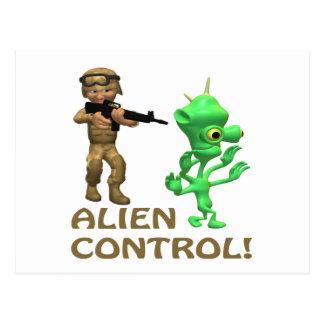 Alien Control Postcard