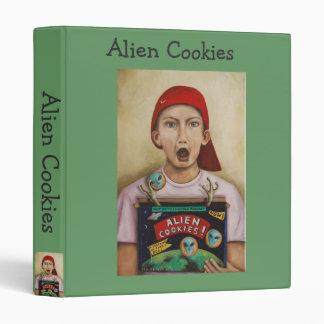 Alien Cookies 3 Ring Binder